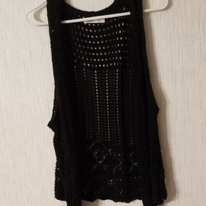 Black old navy beautiful crocheted  vest